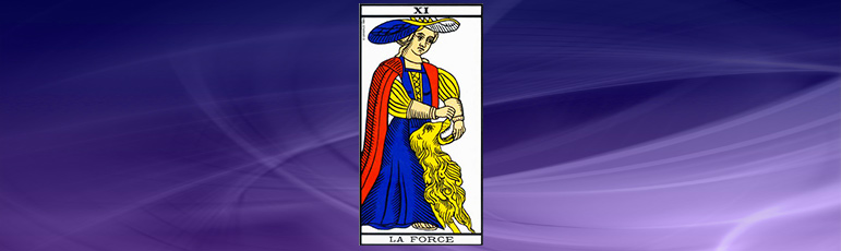 Strength in the Tarot of Marseille